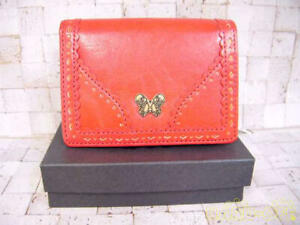Anna Sui Flap Card Case Red