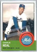 CHARLIE NEAL NEW YORK METS 1963 STYLE CUSTOM MADE BASEBALL CARD BLANK BACK