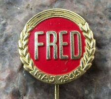 More details for 1955 norwegian norway world peace nuclear disarmament may day 1st pin badge