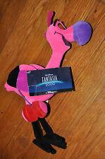 """Disney Bean Bag Plush - FANTASIA 2000 FLAMINGO 11"""" w/Tag"""