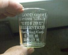 KELLERSTRASS THE BEST OF ALL ST.LOUIS & KC ETCHED PRE PRO ADV WHISKEY SHOT GLASS