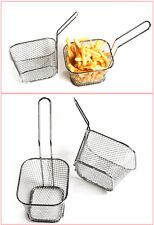 4Pcs Mini Friteuse Chip Fry Panier Servant Présentation Aliment Plat Cuisine NF