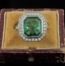Emerald Platinum Vintage Fine Jewellery