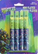 Party Favors TM NINJA TURTLES Green Mini Flutes Birthday Loot Bag Filler 4 Pk