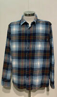 Eddie Bauer Men's XXL Cotton Flannel Relaxed Fit Button Up Long Sleeve Shirt