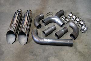 "FOR Dodge RAM 5.9L 2500 3500 Diesel 8"" Miter Cut Dual Stack Kit Twin Stacks 6.7L"
