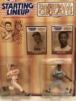 1989 Henry Aaron & Eddie Mathews SLU Baseball Toy Card Atlanta Braves Hank MLB