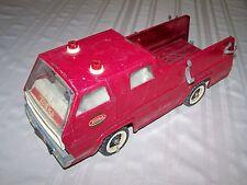 Vintage Tonka Acero Prensado Snorkel Camión de Bomberos Buenos Color 15-1/4X