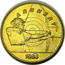elf 1984 Olympics Bus Token  Archery