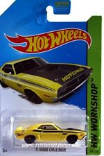 2014 Hot Wheels #242 HW Workshop HW Performance '71 Dodge Challenger yellow