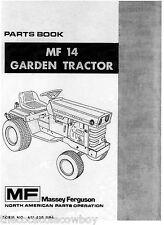 Massey Ferguson MF14 MF-14 Garden Tractor Parts Manual 651-320-M94