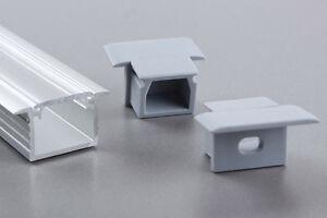Eloxierte  1 Meter LED Aluminium Profile GLL-05  +  Abdeckung + Endkappe