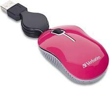 Verbatim Mini Travel Optical Mouse, Commuter Series - Pink