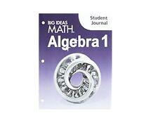 Big Ideas Math Algebra 1 Texas Edition Student Journal BRAND NEW!!!