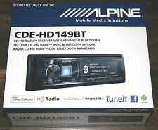 ALPINE CDE-HD149BT AM/FM,CD,MP3 RECEIVER W/ BUILD IN BLUETOOTH & HD RADIO TUNER