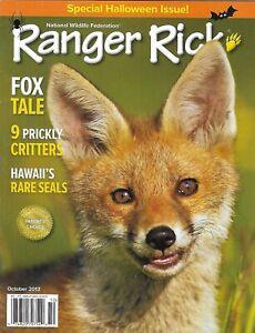 Ranger Rick Magazine Halloween Special Issue Fox Tale Hawaii Rare Seals 2013