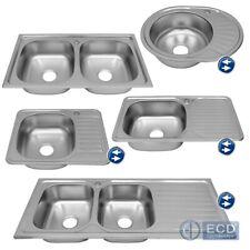 Lavello da cucina lavabo in acciao inox da incasso lavandino modello a scelta