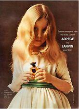 ▬► PUBLICITE ADVERTISING AD Parfum Perfume LANVIN Arpège 1957