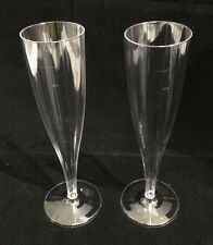 100 X 184ml Disposable Plastic Champagne Flutes Glasses