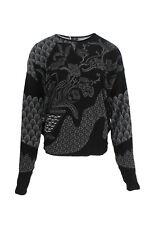 High - PERCHANCE - Volumen-Sweater - black - Gr. L - NEW