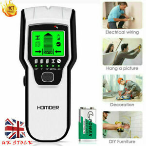 5in1 Electric Detector Wall Metal Test Sensor Wire Stud Finder Cable Scanners UK