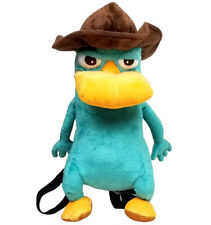 """Phineas and Ferb Agent """"P"""" Plush  Backpack NEW for Kids Unisex Disney"""