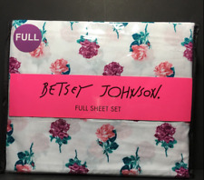 Betsey Johnson Full Sheet Set Rose Pose Easy Care & Wrinkle Resistant 4 Pc Set