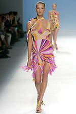 NWT PUCCI Runway 2005 Feather/Crystal Psychedelic Dress