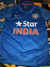 NIKE Star India Cricket Team Blue Jersey ICC World Cup Mens SZS Dri Fit Polo