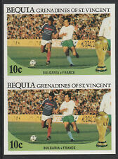 St Vincent Bequia (1973) - 1986 Worl Cup FOOTBALL IMPERF PAIR unmounted mint