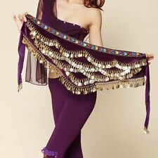 USA NEW Belly Dance Hip Scarf Coins Belt Tribal Costume Hip skirt fast Shipping