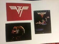 Van Halen 1978/9 81 3 Promo Wb Postcards Nmint Rare Clean Vtg Htf!