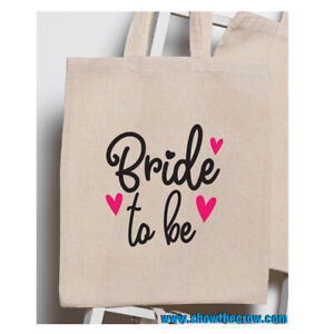 """""""Bride to be"""" Wedding 100% Premium Cotton Tote Gift Shoppers Bag"""