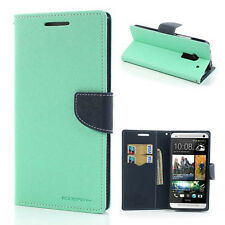 Korean Mercury Fancy Diary Wallet Case Cover for HTC One Max - Green