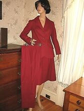 LOVELY VINTAGE 3pc PENDLETON VIRGIN WOOL SUIT - COAT, PANTS, A-LINE SKIRT - 7-12