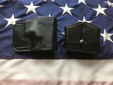 Don Hume Jit 36 Black Leather OWB Holster W Double Mag Carrier Glock 17 19 Set