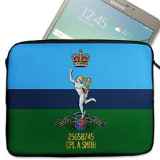 """Personalised Tablet Sleeve ROYAL SIGNALS 7"""" - 11"""" Army Case MC54"""