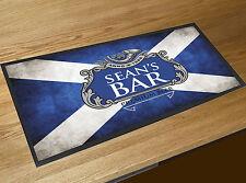 Personalizado Bandera Escocesa Azul Etiqueta de cerveza Toalla Bar