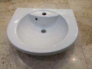 Eastbrook type 55 60.0013 bathroom sink basin semi recessed white