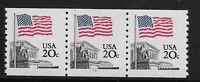 US Scott #1895, Plate #12 Coil 1981 Flag 20c VF MNH