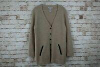 Orvis Wool Beige Cardigan Size M
