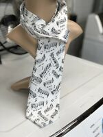 Music Note Necktie Black And White Three Rooker Father's Day Gift