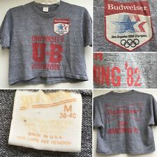 VTG University Of Budweiser 1984 Olympics CSUN Homecoming 82 Half Shirt Crop Top