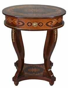 Beistelltisch Barock Konsolentisch Intarsien Tisch Antik Tischkonsole Flurtisch