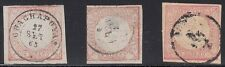 Peru Scott 12,12a,12b Used (#12a thin, center stamp) - Catalog Value $192.00