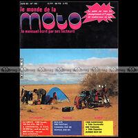 LE MONDE DE LA MOTO N°102 LAVERDA 750 SF MORIN 500 CAMEL HONDA PX 50 DUCATI 500