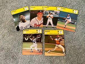 1977-79 Atlanta Braves Sportscaster Baseball Card Set Lot (6) Hank Aaron Niekro