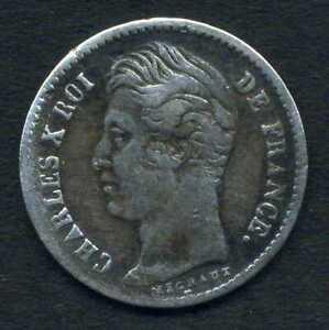 (629) MONNAIE ARGENT de 1/4 FRANCS CHARLES X 1828 A