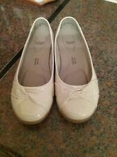 Evans  nude flat patent Shoes 5EEE