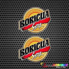 2x PUERTO RICO BORICUA SOY VINYL CAR STICKERS DECALS